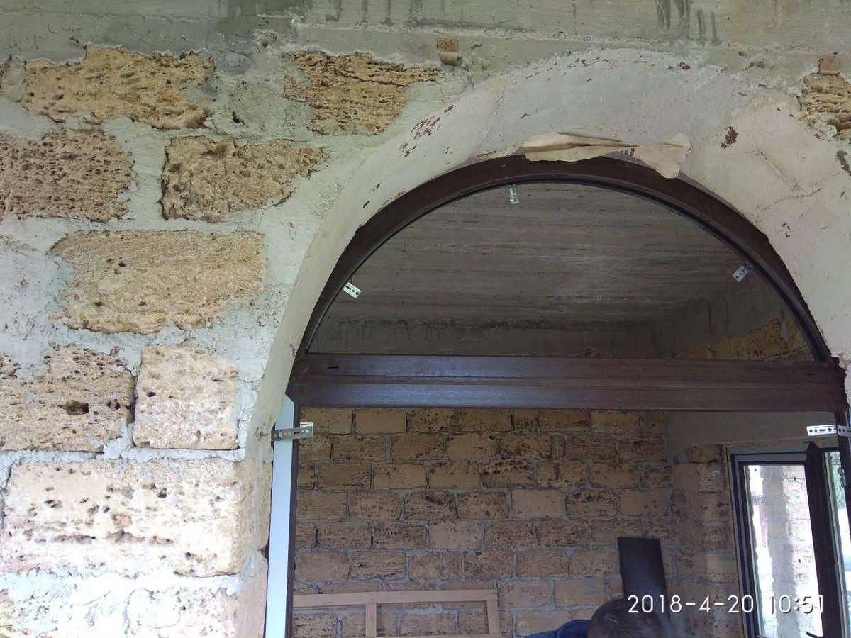 Монтаж арочных окон и дверей