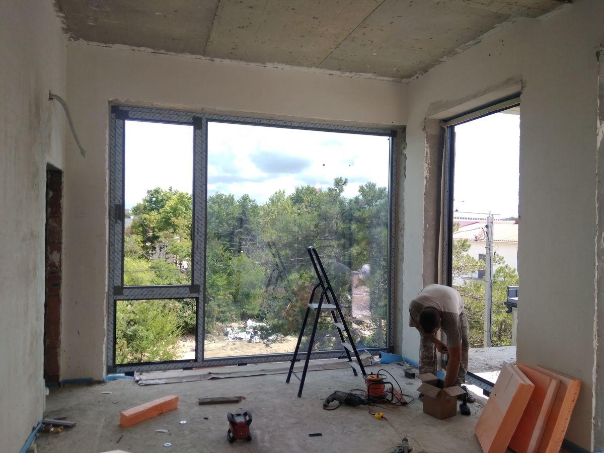 Окна Алюминий для коттеджа