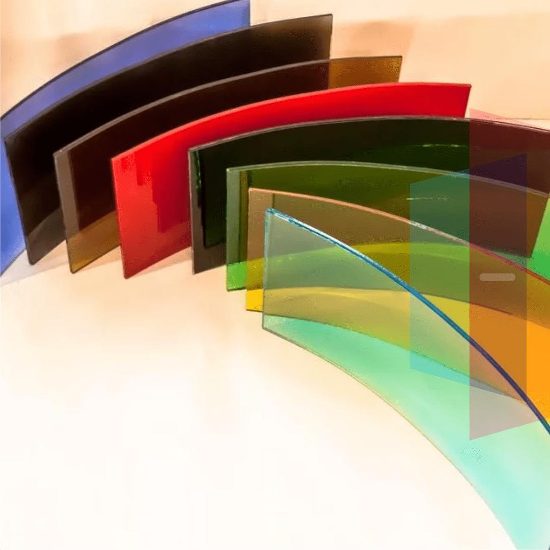 цветное напыление на стекло